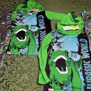 NWt TWINS 10 12 jurassic world pajamas dinosaurs